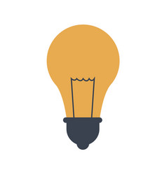 School idea bulb light creativity icon vector