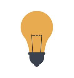 School idea bulb light creativity icon vector