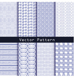 Seamless geometric minimalistic patterns vector