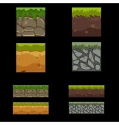 Seamless landscape square elements set vector image