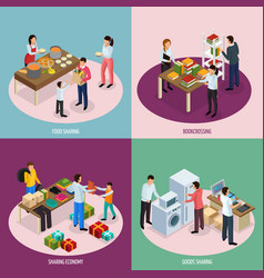 Sharing economy design concept vector