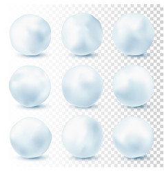 snowball isolated on transparent background vector image