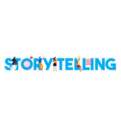 Storytelling text telling stories information vector