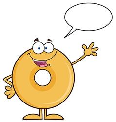 Talking Donut Cartoon vector