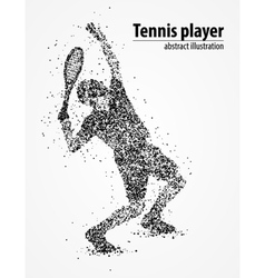 Tennis abstract athlete vector