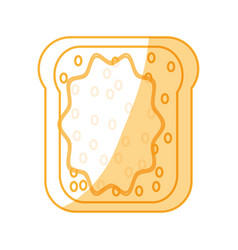 Toasted bread butter vector