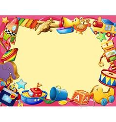 Toys banner vector