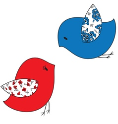 Two stylized birds vector