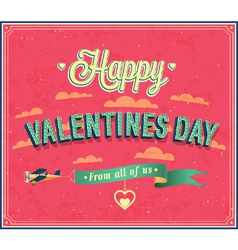 Valentines day typographic design vector