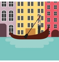 Venecia city icon Italy culture design vector