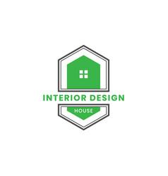 vintage house of dog logo design vector image