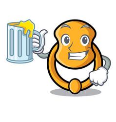 With juice elegant fashion door knocker mascot vector