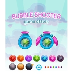 Bubble shooter game assets vector image