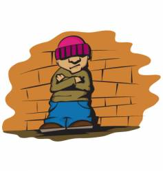 cool kid vector image vector image