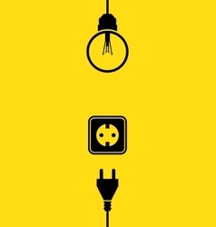 Electricity icon flat vector image vector image