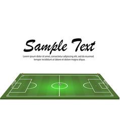 football stadium with a ball on a football field vector image