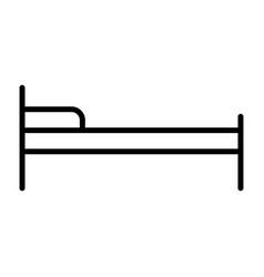 hotel bed line icon simple minimal pictogram vector image vector image