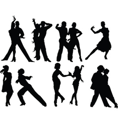 Salsa silhouettes vector image vector image