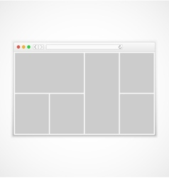 Web browser window on white background vector image vector image