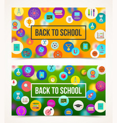 Welcome back to school - two banners vector