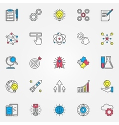 Colorful innovation icons set vector image vector image