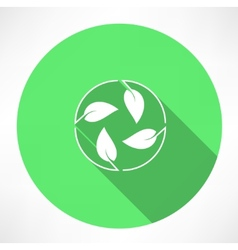 cycle leaves icon vector image
