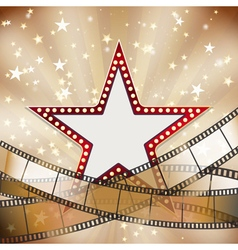 abstract vintage cinema background vector image