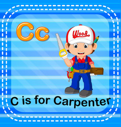 Flashcard letter c is for carpenter vector