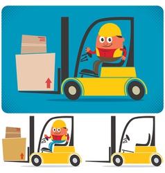 Forklift Driver vector image vector image