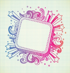 frame doodle vector image vector image