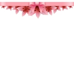 Lily flower Banner on a white background vector image vector image