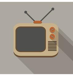 Retro TV set icons vector image