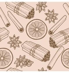 Seamless cinnamon vector image vector image