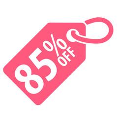 85 percent off tag vector image