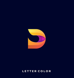 abstract letter design template vector image
