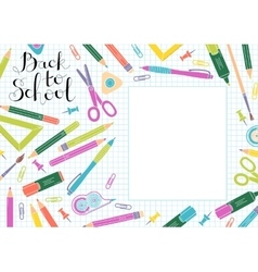 Back to school design template Frame of vector image