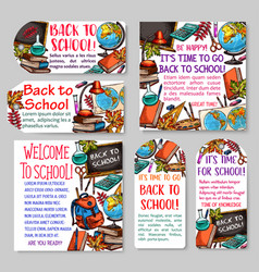 back to school tag and label for sale design vector image