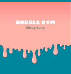 Background with pink bubble gum vector