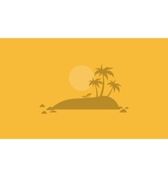 Beautiful islands landscape of silhouettes vector