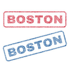 boston textile stamps vector image