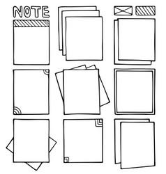 bullet journal hand drawn frames vector image