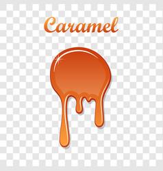 Caramel drop 3d realistic caramel melted sauce vector