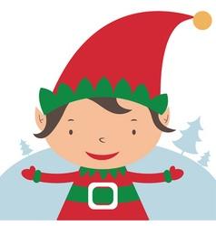 Christmas Elf Card template vector