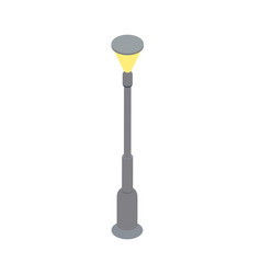 city streetlamp isometric 3d icon vector image
