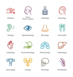 Colored Medical Specialties Icons - Set 1 vector