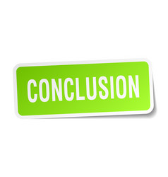 Conclusion square sticker on white vector
