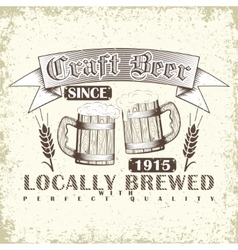 Craft beer emblem vector image