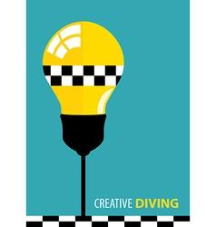 Creative Diving vector