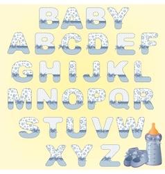 Cute baby alphabet vector