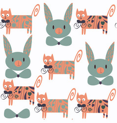 cute cats seamless pattern it is located in vector image